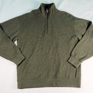 Orvis Trout Fishing Olive Quarter Zip Pullover Med